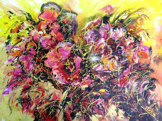 Праздник цветов июня,2008, 60х80, б.акв.