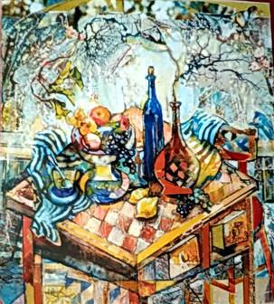 Натюрморт на шахматной доске 80х70, холс