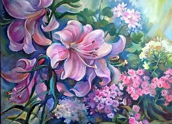 Флоксы и лилии