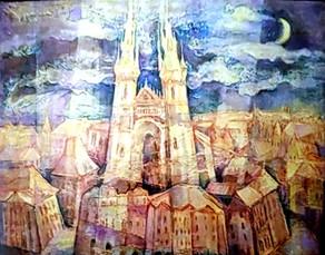Лунная Прага 60х70, холст, масло