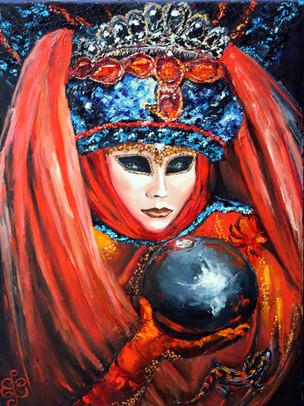 Денисова Екатерина. Пророчество (Венецианские маски).