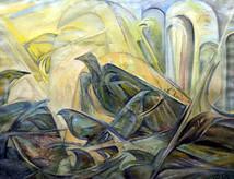 Храм птиц, 1995, х.м., 80х100.jpg