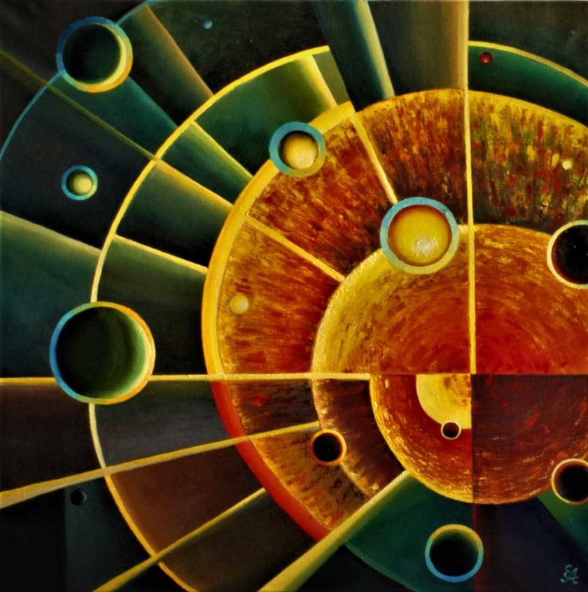 3 Геометрия вселенной. Холст, масло, 80х80