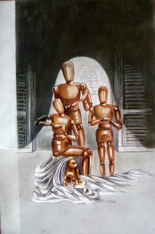 Корнева Юлия. Среднестатическая семья. 70х50. цветные карандаши, бумага gr149.jpg