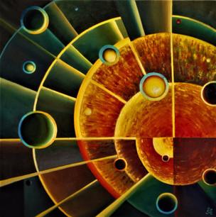 Геометрия Вселенной. 80х80, холст, мамас