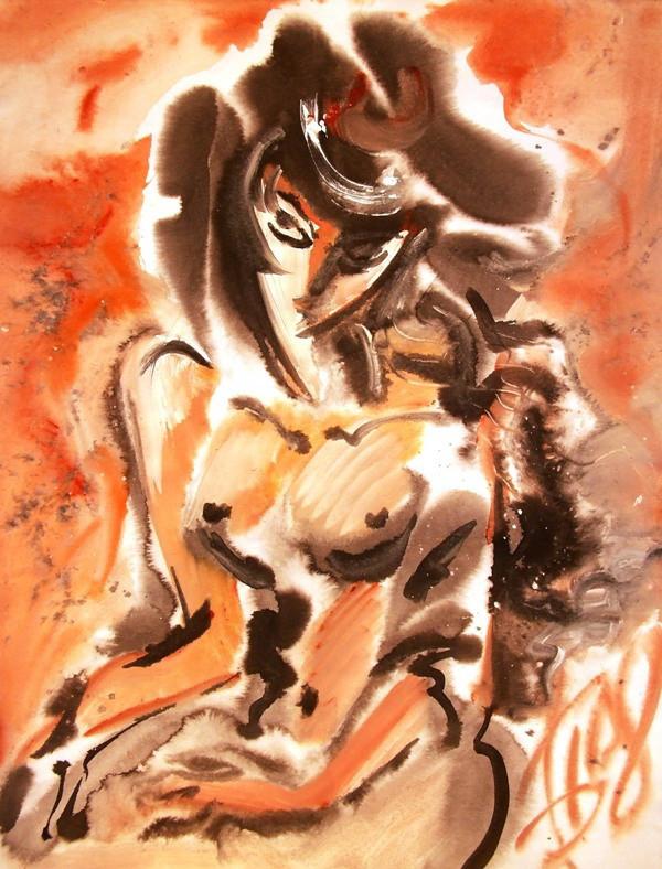 Дама в мехах, 2008, б. акв., 60х50.jpg
