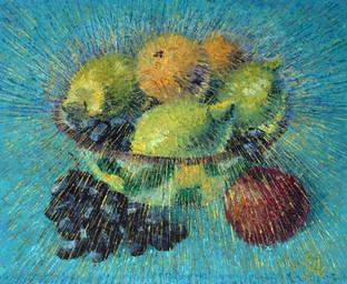 Натюрморт с фруктами. 50х60, холст, масл