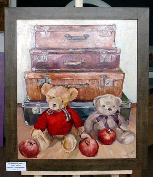 Соломко Жанна. Мишки с чемоданами. 70х60, холст, масло - 21.JPG