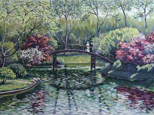 Весна в парке. 60х80, холст, масло. 1500