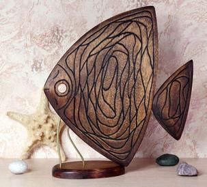 Рыба с абстрактным орнаментом