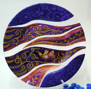 Весна. d-25 см. Стеклянная тарелка, декор выполнен в технике точечной росписи. Цена 8000.jpg