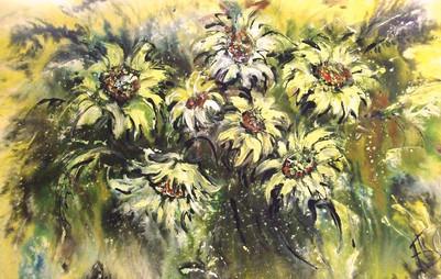 Ромашки в поле, 2008, 60х80, б.акв.акр..