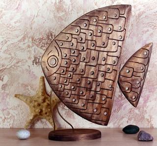 Рыба с геометрическим орнаментом