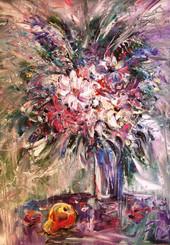 Цветы и фрукты, 2008, б.акв, 70х50.JPG