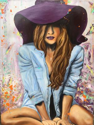 Lucky purple hat