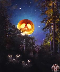 Черные коты. холст, масло 60х50 см - (Живопись – 25 тыс.руб., жикле - от 12 т.р в зависимости от размера).jpg