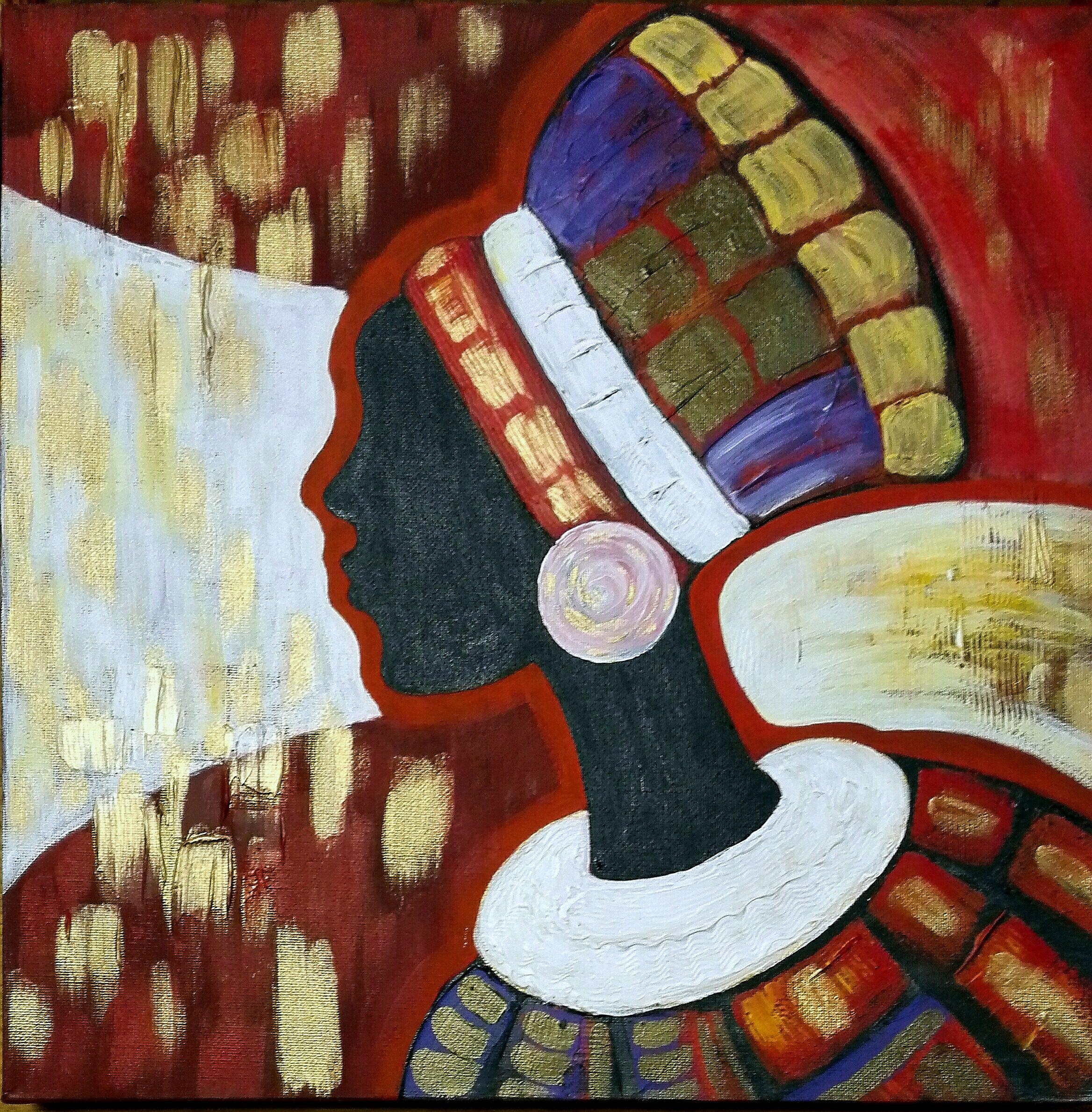 Гаджиева Лейла Африканка-1 40х40 холст, акрил