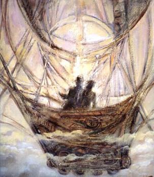 Воздушная каравелла, 1998, х.м., 60х50.j