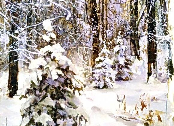 Зимой в лесу