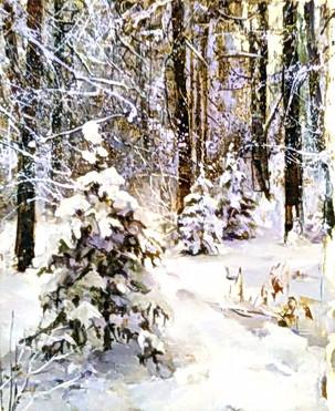 Зимой в лесу, 50х40, холст, масло.jpg