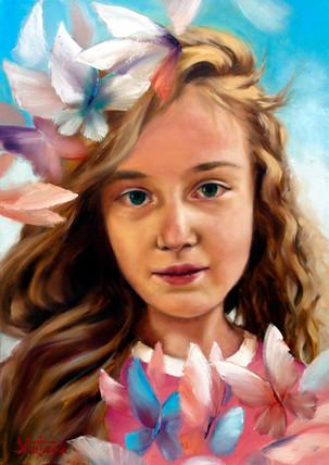 Портрет девочки.  для примера.