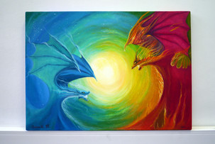 Андреева Мария Битва драконовхолст на подрамнике масло 50х70.JPG