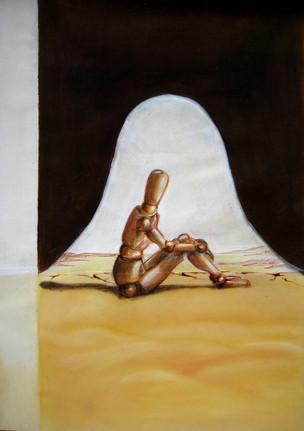 Корнева Юлия. Среднестатическое одиночество. 70х50. цветные карандаши, бумага gr150.jpg
