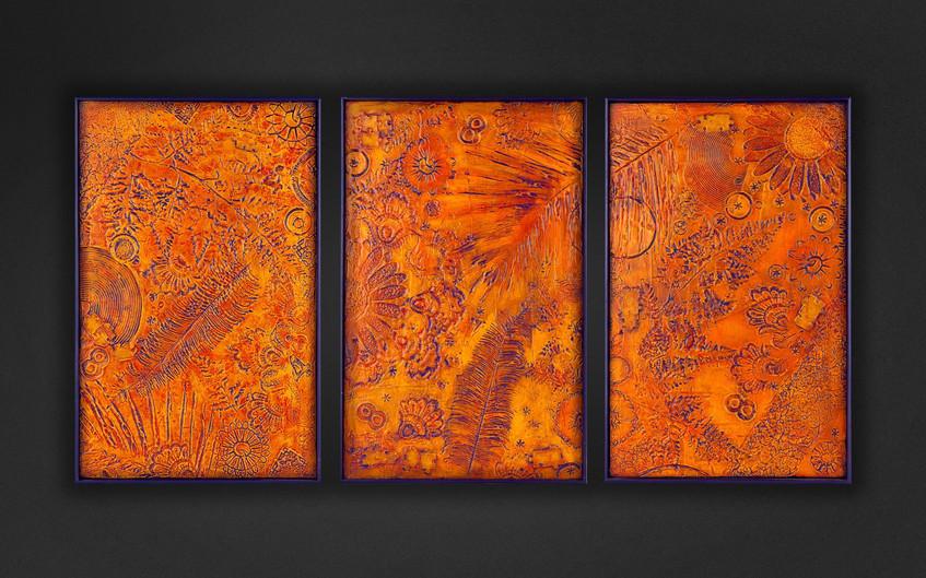 3 Триптих. Техника штампинг. 9 тр.