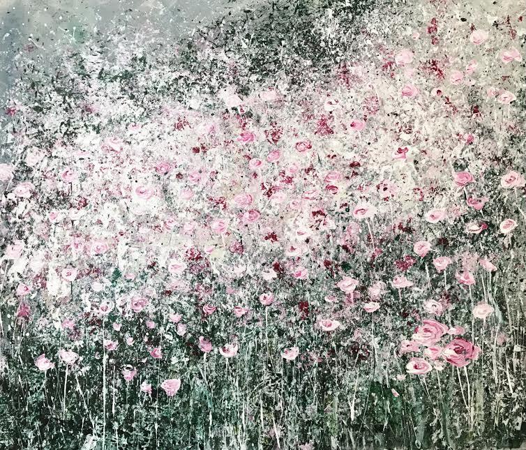 Нуждина Ирина-Облако цветов-60х70-акрил на холсте
