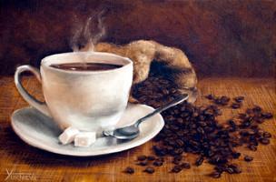 Ароматный кофе.