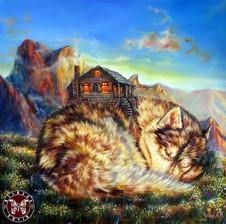 Хаски-Дом, 60х60, холст, масло- (Живопись – 40 тыс.руб., жикле - от 15 т.р в зависимости от размера).jpg