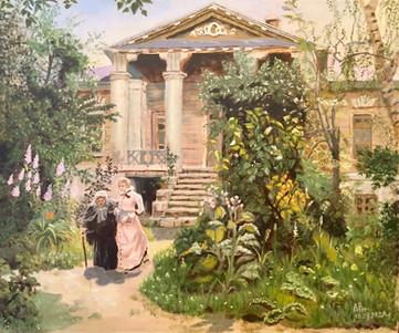Бабушкин сад. Копия работы В. Поленова,