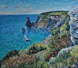 Крымский пейзаж. 60х70, холст, масло. 13