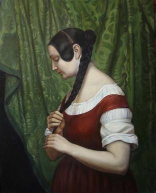 Девушка с косой