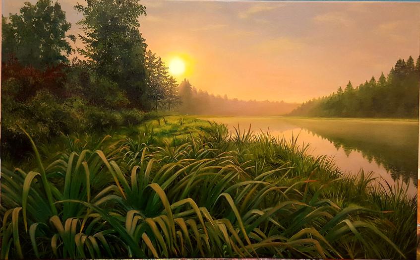 Демидова.Окунуться в травы.2016.х.м.50х80.18000