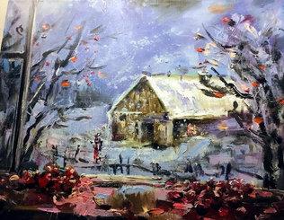 Зима на даче, 40х50, холст, масло.jpg