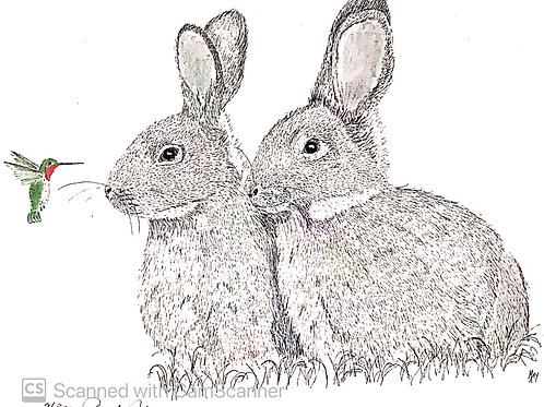 Bunnies with Hummer