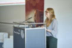 Referentin beim Zukunftskongress Next Frontiers (Annekatrin Baumann)