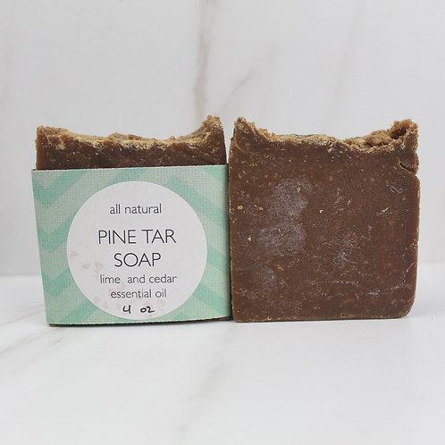 Pine Tar soap w/ Cedar and Lime