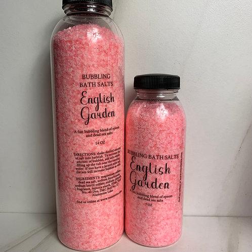 English Garden bubbling bath salt