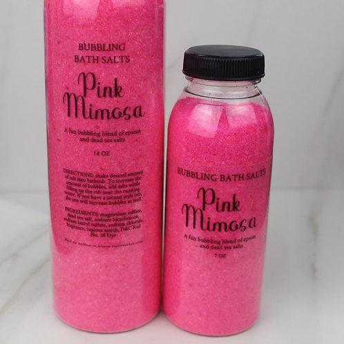 Pink Mimosa bubbling bath salts