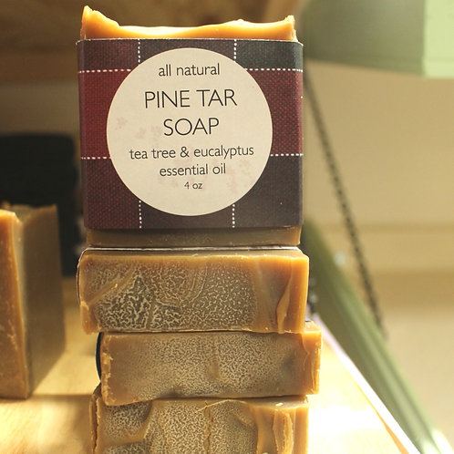 Pine Tar soap w/ Tea Tree & Eucalyptus
