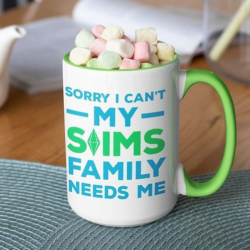 Sorry I Can't 15 oz mug