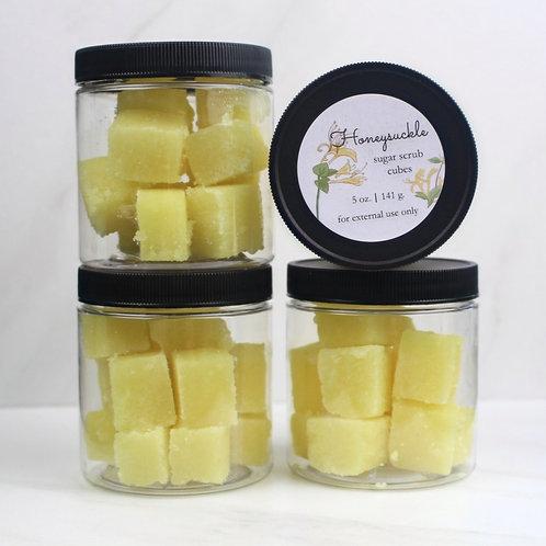 Honeysuckle sugar scrub cubes