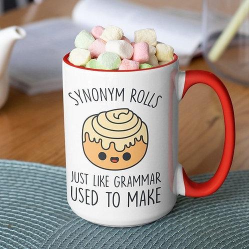 Synonym Rolls 15 oz mug