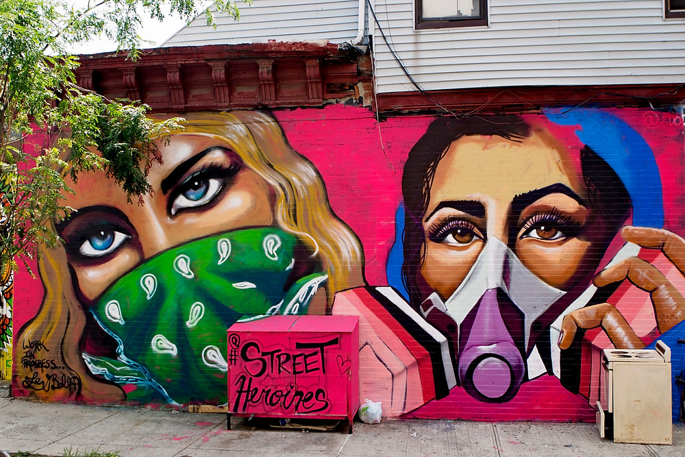 Street Heroines wall by Lexi Bella and Danielle Mastrion
