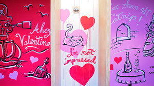 Street Art in the Shop: Valentine's Day at Bloomingdale's