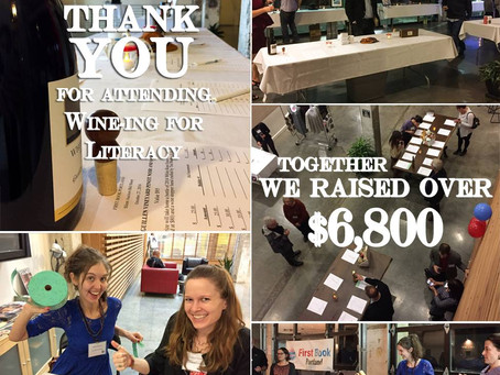 We raised more than $6,800 to buy books for kids in need!