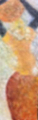 Paper Trail III - 12x36 - mixed media