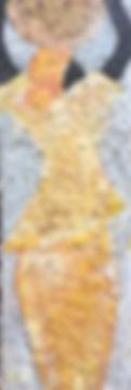 Paper Trail II - 12x36 - mixed media